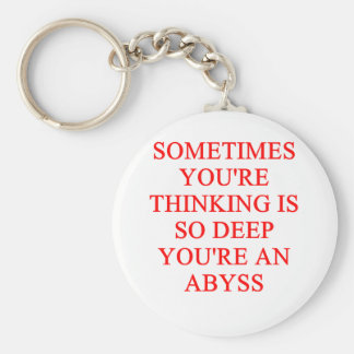 thinking joke key chain