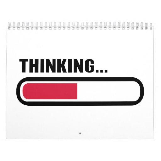 Thinking loading wall calendar