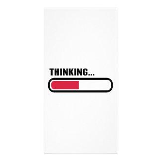 Thinking loading personalized photo card