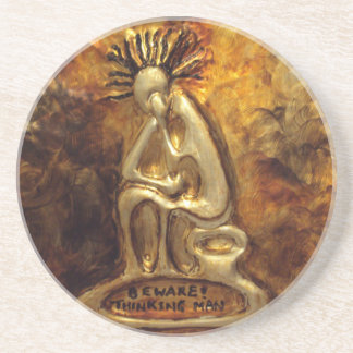Thinking Man_African Art Gift Home Decor Coasters