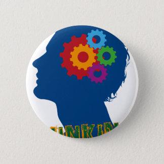 Thinking man button