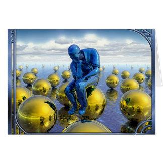 Thinking Man Card