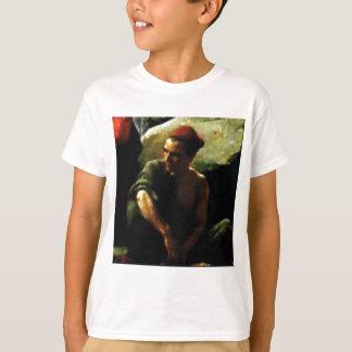 thinking man in dark T-Shirt