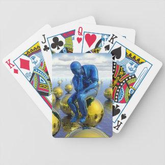 Thinking Man playing cards