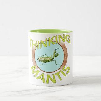 Thinking Mantis Two-Tone Coffee Mug