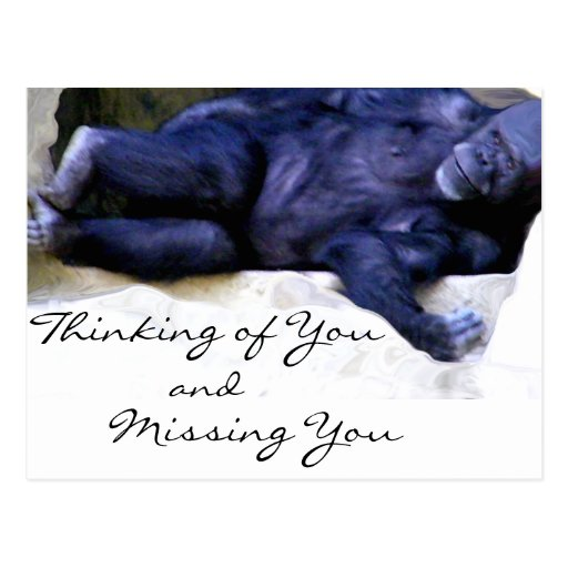 Thinking/Missing You_ Postcard Postcard