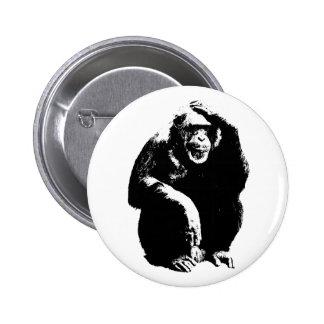 Thinking Monkey Pinback Buttons