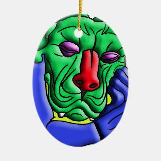 Thinking Monster Ceramic Ornament