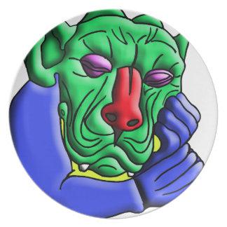 Thinking Monster Melamine Plate