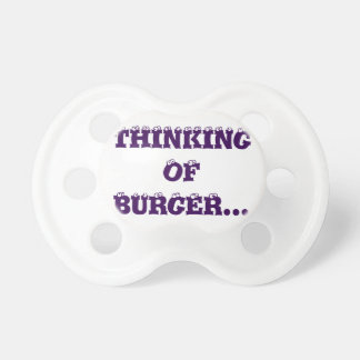 Thinking Of Burger 0-6months BooginHead® Pacifier