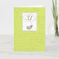 """Thinking of """"U"""" with Love Card"""