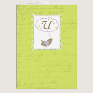 "Thinking of ""U"" with Love Card"