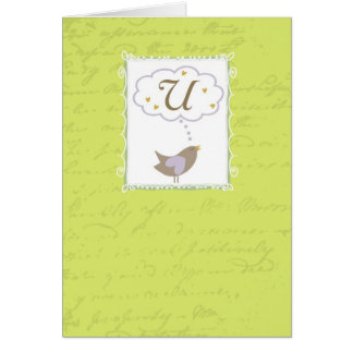 """Thinking of """"U"""" with Love Greeting Card"""