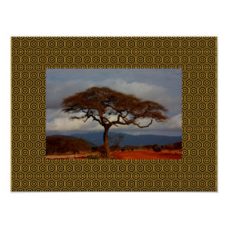 Thinking Of You African Sky Nature Scape Poster