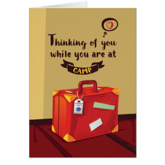 Thinking of You at Camp, Suitcase With Memories Card