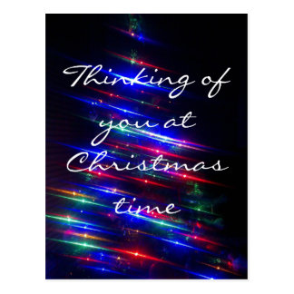 Thinking of you at Christmas Postcard