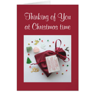 Thinking of You at Christmas Time Sympathy Card