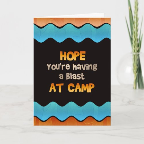 Thinking of You at Summer Camp Card