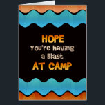 """Thinking of You at Summer Camp Card<br><div class=""""desc"""">Send a colorful note from home letting your little camper know you are thinking of them and hope they are having a blast while they are away at camp.</div>"""