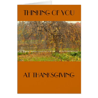 """Thinking of You at Thanksgiving""""  Card"""