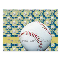 Thinking of You Baseball Motif Postcards