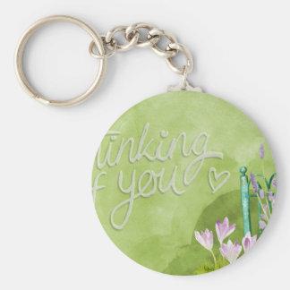 Thinking Of You Basic Round Button Keychain