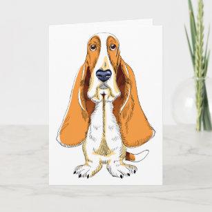 4226839194f3b Thinking Of You Basset Hound Puppy Dog Card