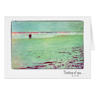 Thinking of you Beach Couple Card