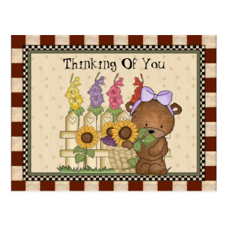 Thinking Of You Bear Postcard