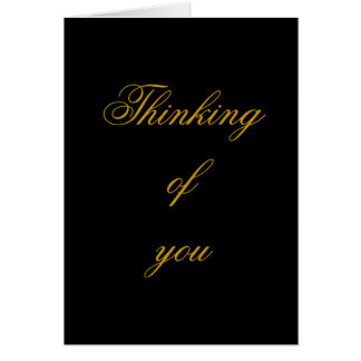 Thinking of you , black and gold elegant card