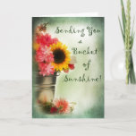 "Thinking of You - Blank Card Bucket of Sunshine<br><div class=""desc"">Cheer up someone with this bright and cheery notecard</div>"