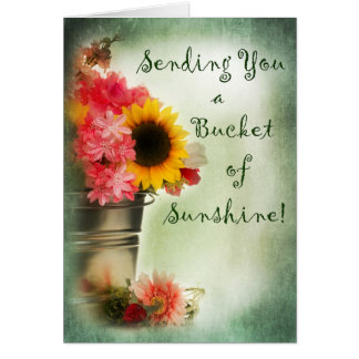 Thinking of You - Blank Card Bucket of Sunshine