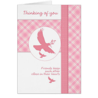 Thinking of you blank note card