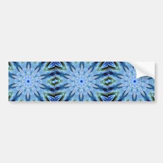 Thinking of You Blue Kaleidoscope Bumper Sticker