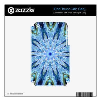 Thinking of You Blue Kaleidoscope iPod Touch 4G Decals