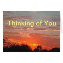 Thinking of You Bright Orange Sunset Photo
