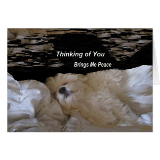 Thinking Of You Brings Me Peace Greeting Card