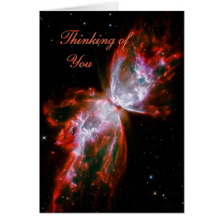 Thinking of You - Butterfly Nebula in Scorpius Card