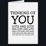 """Thinking of you, cancer or get well customizable card<br><div class=""""desc"""">This is a humorous card that shows care and support for those suffering from an illness like cancer.</div>"""