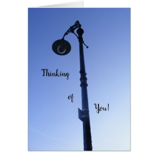 Thinking of you card, lamp shining down on you! card