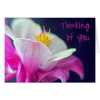 Thinking of You Card - pink and purple