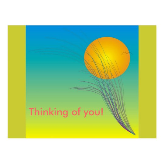 Thinking of you card! postcard