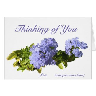 """Thinking of You"" card with your name on it."