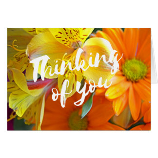 Thinking of You Card - yellow and orange