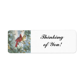 THINKING OF YOU-CARDINALS- RETURN ADDRESS LABELS