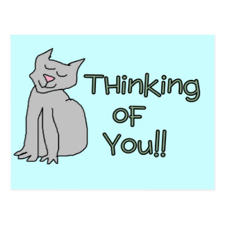Thinking of you Cat card