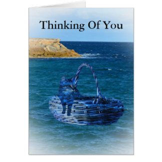 Thinking Of  You Cat Sea Adventure Greeting Card