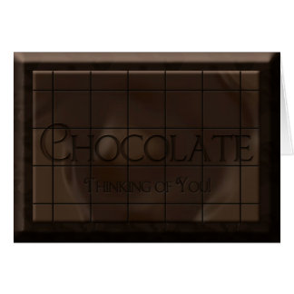 THINKING OF YOU -  CHOCOLATE CANDY BAR CARD
