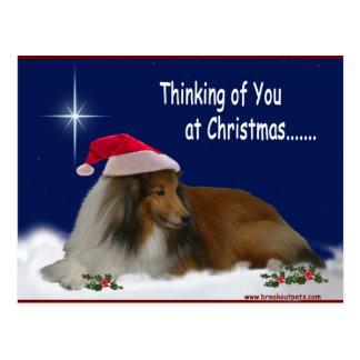 Thinking of You Christmas Postcard