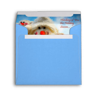 Thinking of You Christmas Snowman Envelope